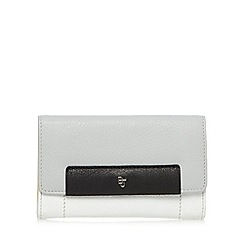 Betty Jackson.Black - Designer grey leather medium flapover purse