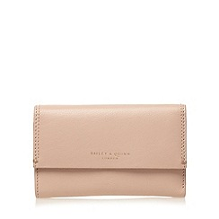 Bailey & Quinn - Pale pink 'Azami' leather zip pocket medium purse