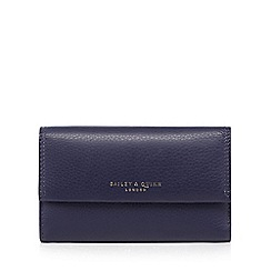 Bailey & Quinn - Navy 'Azami' leather zip pocket medium purse