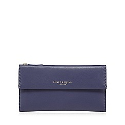 Bailey & Quinn - Blue Azami large flap over leather purse