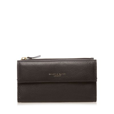 Bailey & Quinn Black ´Azami´ leather flap over large purse - . -