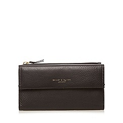 Bailey & Quinn - Black 'Azami' leather flap over large purse