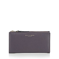 Bailey & Quinn - Purple 'Fern' leather large purse
