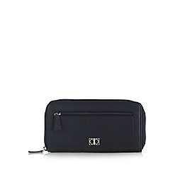 The Collection - Navy leather zip medium purse