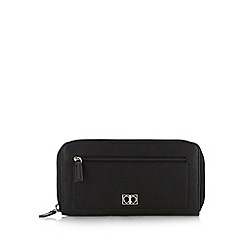 The Collection - Black zip detail large leather purse