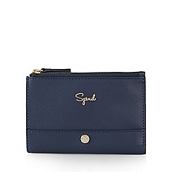 Bailey & Quinn - Blue 'Spend and Save' medium zip top purse