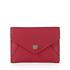 Bailey & Quinn - Dark pink leather envelope card holder