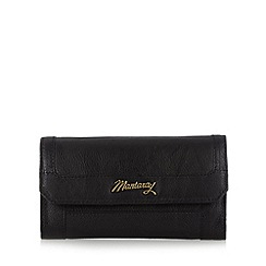 Mantaray - Black leather flap over large purse