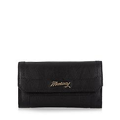 Mantaray - Black leather flap over large purse