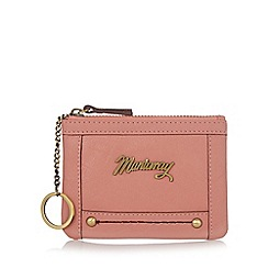 Mantaray - Pink leather logo coin purse