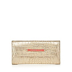 Versace Jeans - Gold croc cross body purse