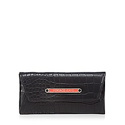 Versace Jeans - Black large mock croc purse