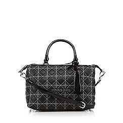 Versace Jeans - Black quilted patent grab bag