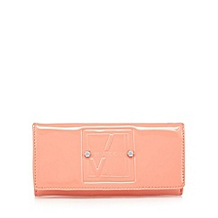 Versace Jeans - Coral large patent flap over purse