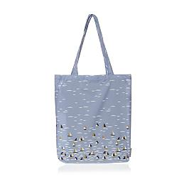 Blue sailboat foldaway shopper bag