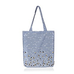 Bailey & Quinn - Blue sailboat foldaway shopper bag