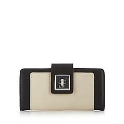 Principles by Ben de Lisi - Designer black colour block twist lock large purse