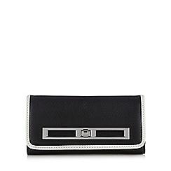 Principles by Ben de Lisi - Designer black piped twist lock large purse
