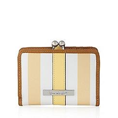 Principles by Ben de Lisi - Designer yellow striped clasp medium purse