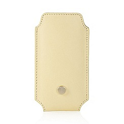 J by Jasper Conran - Designer pale yellow leather phone case