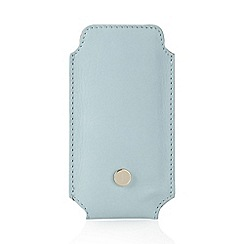 J by Jasper Conran - Designer pale blue leather phone case