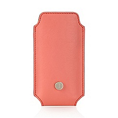 J by Jasper Conran - Designer coral leather phone case