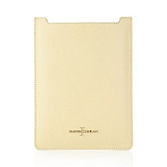 J by Jasper Conran - Designer pale yellow leather iPad cover