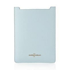 J by Jasper Conran - Designer pale blue leather iPad cover