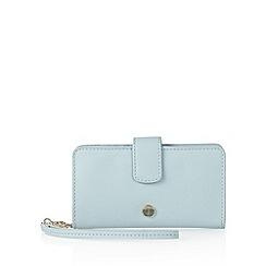 J by Jasper Conran - Designer pale blue leather 2-in-1 phone case and purse