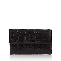 Osprey London - Black leather mock croc medium purse