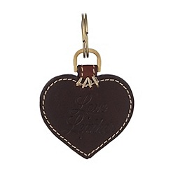 Osprey London - Chocolate leather heart keyring