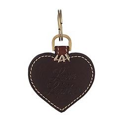 Osprey London - Chocolate leather heart keyring