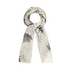 Osprey London - Pale grey autumn leaves scarf