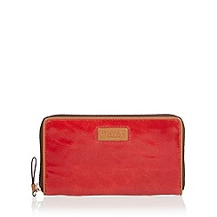 Osprey London - Red 'Sarah' leather large purse