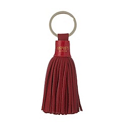 Osprey London - Red leather tassel keyring