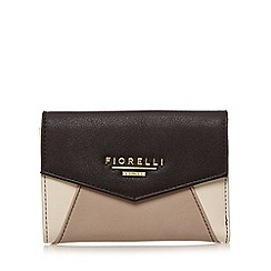 Fiorelli - Black 'Tilly Biscuit' colour block flap over small purse