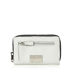 Betty Jackson.Black - Designer grey contrast pocket medium purse