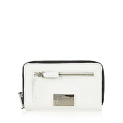Betty Jackson.Black - Designer white contrast pocket medium purse