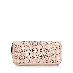 The Collection - Light pink cutout large zip around purse