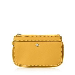 The Collection - Dark yellow zipped wristlet purse