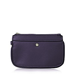 The Collection - Purple zipped wristlet purse
