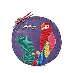 Mantaray - Purple tropical parrot round coin purse