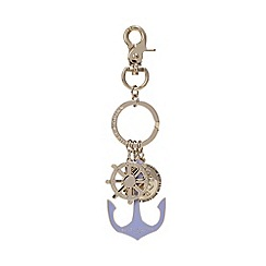 Bailey & Quinn - Blue enamel anchor keyring