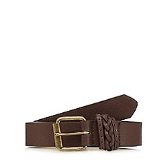 Mantaray - Chocolate plaited keeper belt