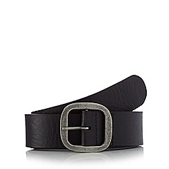 Mantaray - Black leather belt