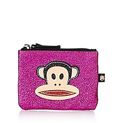 Paul Frank - Pink glitter monkey coin purse