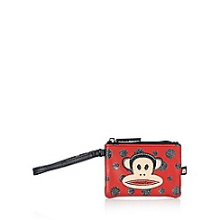 Paul Frank - Red glitter spot monkey wristlet purse