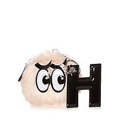 H! by Henry Holland - Designer light pink furry eye ball coin purse
