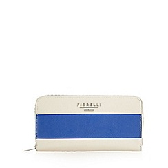 Fiorelli - Bright blue striped large zip around purse