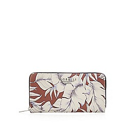 Fiorelli - Brown leaf large zip around purse